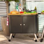 Mobile preparation kitchen backyard deck with gas barbeque